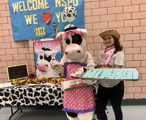 Molly the Cow and her treats!